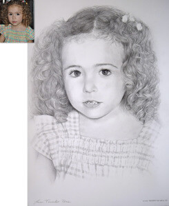 retratos por encargo, retratos a lapiz