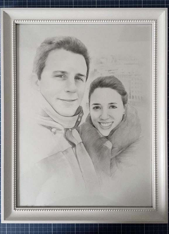 retratos por encargo marco-a3-blanco