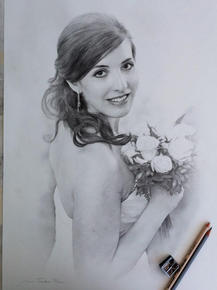 retratos por encargo boda