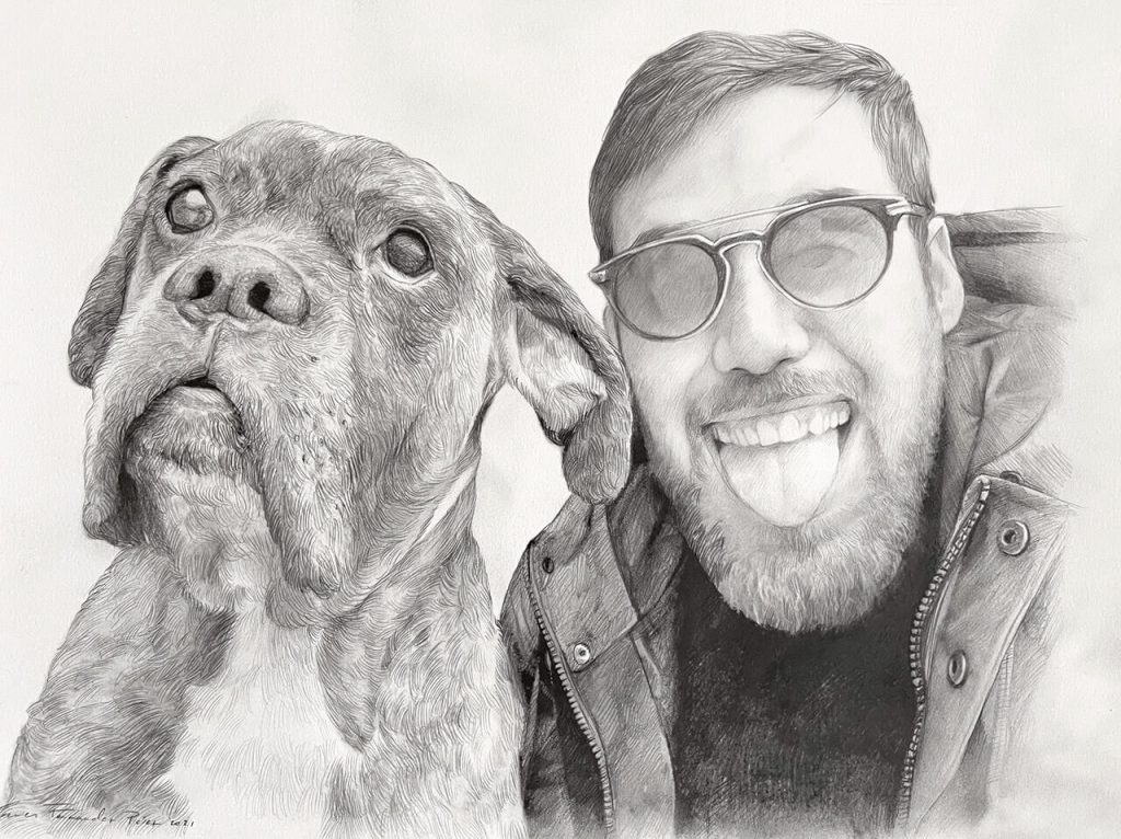 retrato-a-lapiz-de-perro